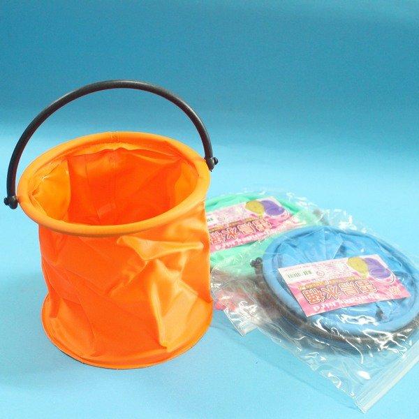 雷鳥 水桶 LT-012 水袋 水彩桶 可折式伸縮手提水桶 筆洗/一個入{定55}