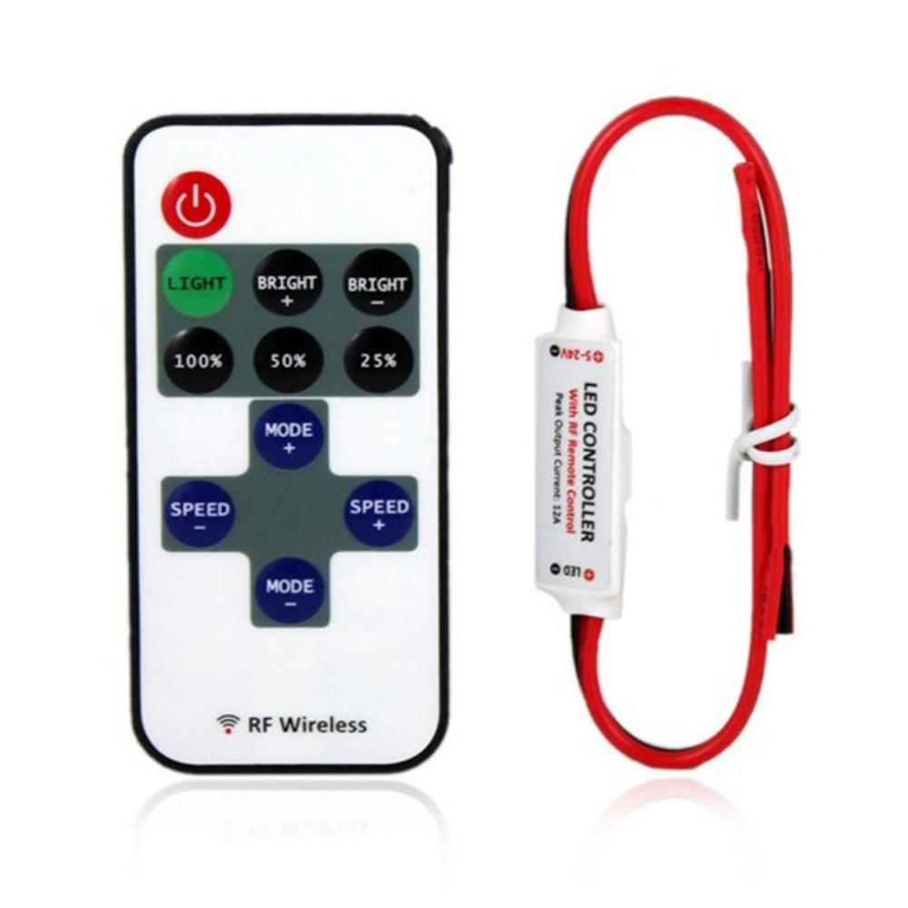 12 v射頻燈帶迷妳無線開關控制器與遠程控制調光器迷妳串聯LED燈控制器/調光器