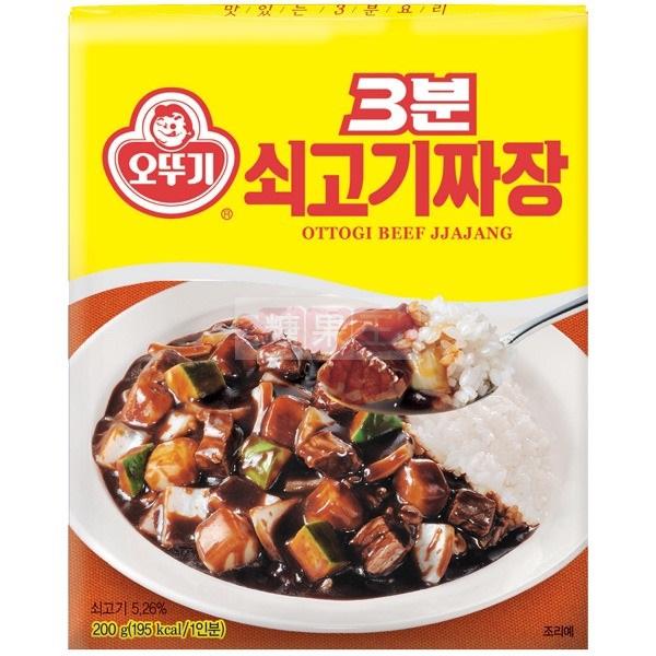 【糖果王】韓國奧多吉 3分鐘料理包 (炒牛肉炸醬風味) • 大韓民國萬歲 三兄弟最愛