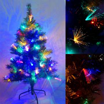 夢幻多變4尺/4呎(120cm)彩光LED光纖聖誕樹YS-OFT04002