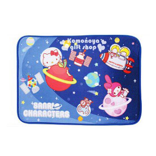 〔小禮堂〕Hello Kitty 地墊《深藍.太空.美樂蒂.Patty&Jimmy.65x45》Sanrio55週年系列