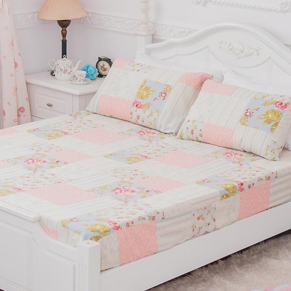 [SN]#B168#寬幅100%天然極緻純棉5x6.2尺雙人床包+枕套三件組*台灣製/SGS檢驗/床單/床巾