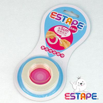王佳膠帶 ESTAPE 雙面棉紙DD120505點斷膠帶12mmx5M/ 捲