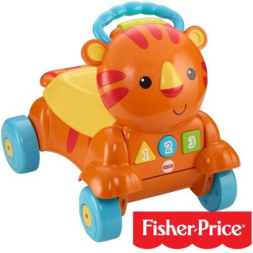 Fisher-Price費雪 - 兩用老虎聲光踏步車