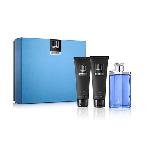 Dunhill Desire Blue 登喜路藍調男性淡香水三件式禮盒組 100ml+精美名片夾+沐浴球【特價】§異國精品§