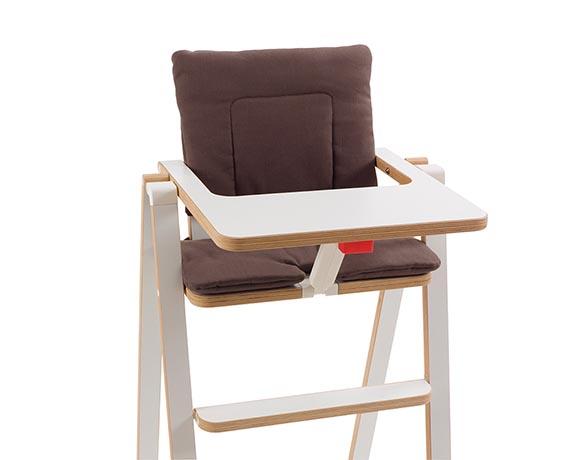 奧地利SUPAflat 兒童折疊高腳餐椅坐墊-可可咖啡