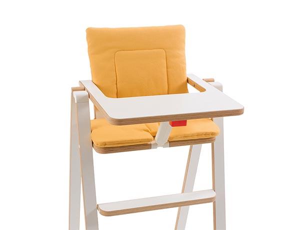 奧地利SUPAflat 兒童折疊高腳餐椅坐墊-檸檬黃