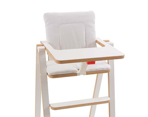 奧地利SUPAflat 兒童折疊高腳餐椅坐墊-香草白