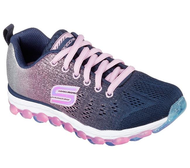 [陽光樂活] Skechers  女童 慢跑鞋 走路鞋 SKECH-AIR ULTRA -80035L NVPK