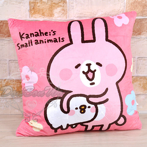 kanahei卡娜赫拉兔兔方型寢具絨毛枕頭抱枕18吋090702海渡