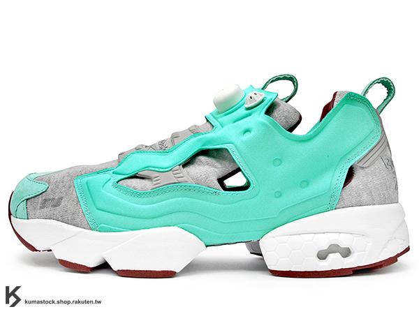2014 20周年紀念 限量登場 瑞典鞋舖 SNEAKERSNSTUFF x REEBOK INSTA PUMP FURY OG 灰綠 亮綠 紡織布料 SNS 1994 原版中底設計 (V61333) !