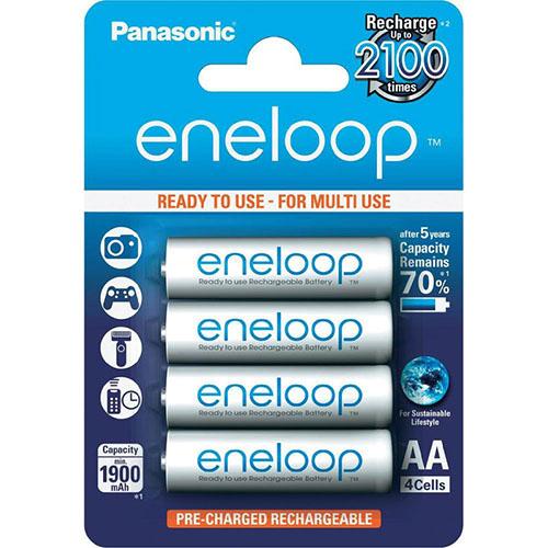 國際牌 Panasonic eneloop AA低自放鎳氫充電電池 (4入) - 贈電池盒