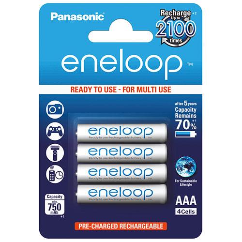 國際牌 Panasonic eneloop AAA低自放鎳氫充電電池 (12入) - 贈電池盒白色