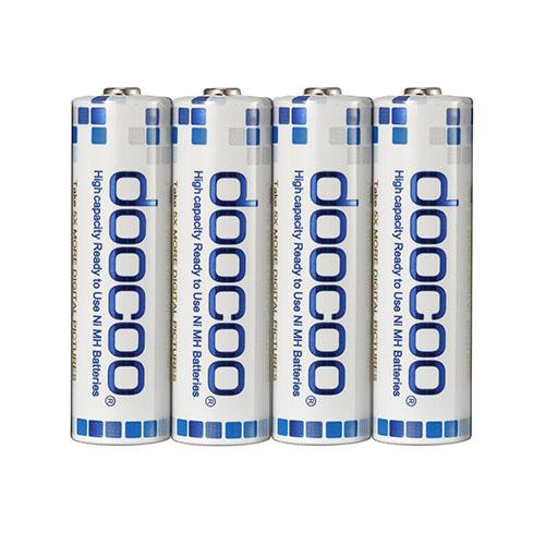 【doocoo】3號 AA 2500mAh 低自放鎳氫電池(16入)