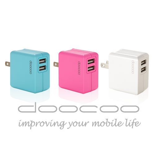 【doocoo】itofu2 2.1A 雙輸出輕巧型USB快速充電器
