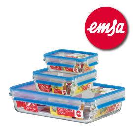 德國EMSA玻璃保鮮盒 三件組#514168