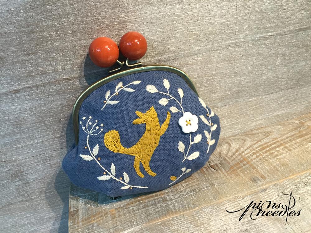 設計師系列 - 刺繡口金包 - 森林小狐狸
