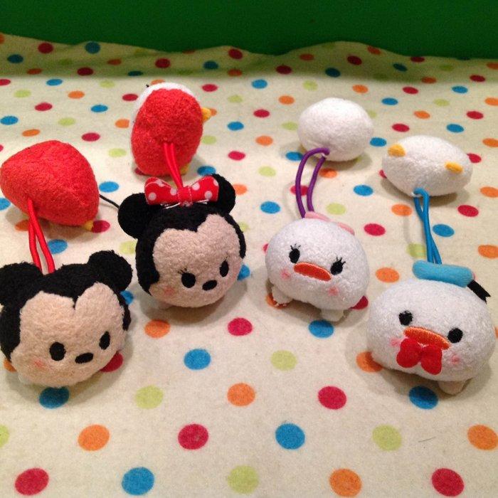 =優生活=日本迪士尼可愛tsum tsum米奇 米妮 唐老鴨 黛西 雙頭髮束 髮圈 兒童髮飾