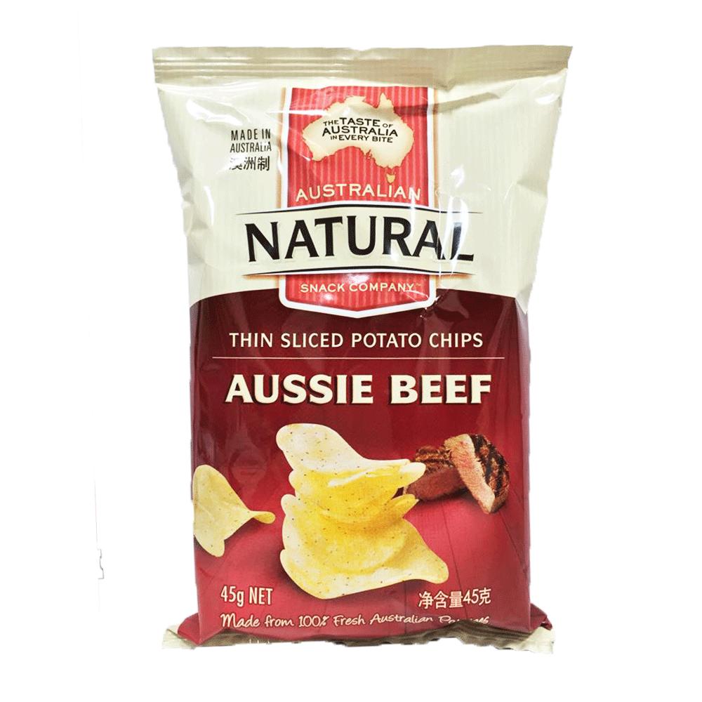 澳洲進口 NATURAL 洋芋片-澳洲牛肉45g
