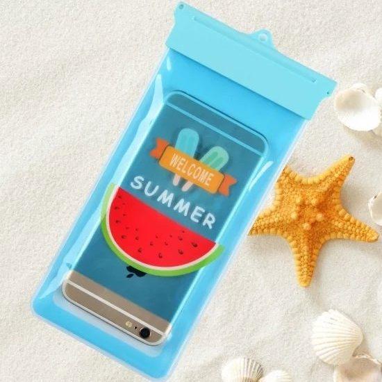 PS Mall 韓國新款4.7吋 5.5吋 IPHONE5手機通用防水袋可觸屏收納包配掛繩 【J1364】