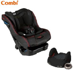 【組合特惠$12500】日本【Combi 康貝】Prim Long EG 汽車安全座椅(黑)+汽座輔助墊