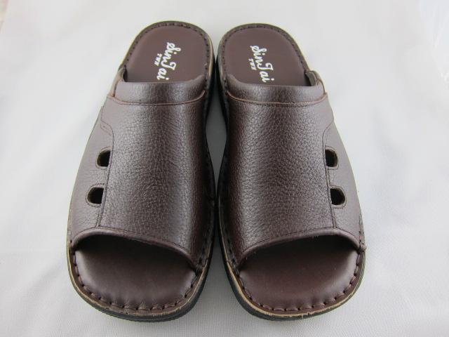 真皮工坊~穿過的都說讚【B1038】比氣墊鞋好穿*保證㊣牛皮真皮手工男拖鞋【顏色多種可自選、顏色挑選請參考首頁】