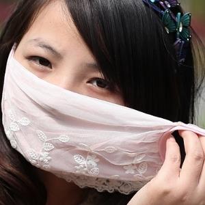 美麗大街【BF285E7E855】網紗純棉防霧霾防甲醛防曬防塵口罩(花草蕾絲邊)