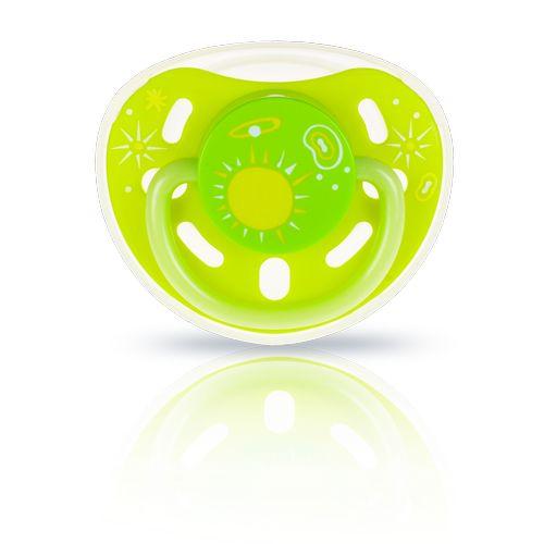 ★衛立兒生活館★kidsme 夜光安撫奶嘴-綠黃9個月以上使用