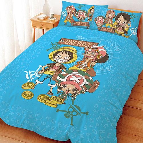 【UNIPRO】航海王 One Piece 尋寶之路 5X6.2尺 雙人床包組(枕頭套X2+床單X1) 海賊王 正版授權 台灣精品