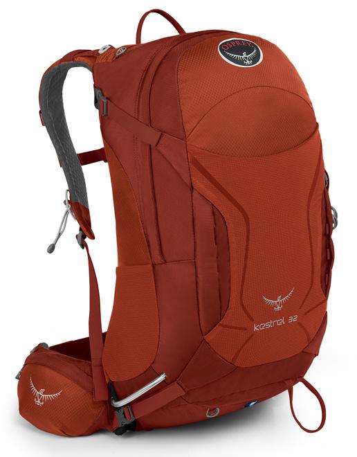 【鄉野情戶外專業】  Osprey |美國|  Kestrel 32 登山背包/自助旅行中背包-火紅M/L/Kestrel32  【容量32L】