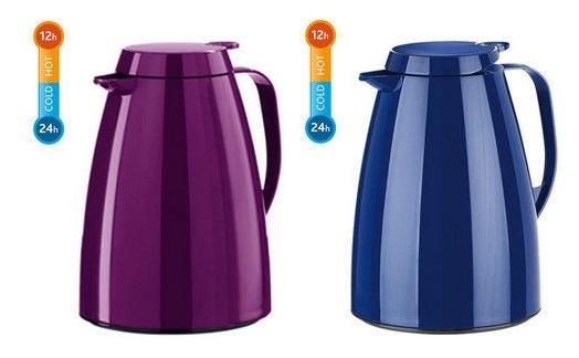 德國EMSA 巧手壺系列真空保溫壺-1.0L 優雅紫(508475)/率性藍(505010)