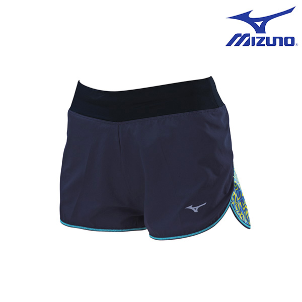 J2TB625614(深丈青X藍)翁滋蔓代言女路跑短褲 【美津濃MIZUNO】