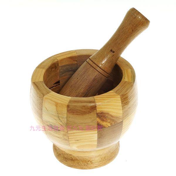 【九元生活百貨】木製搗臼 搗缽 搗藥