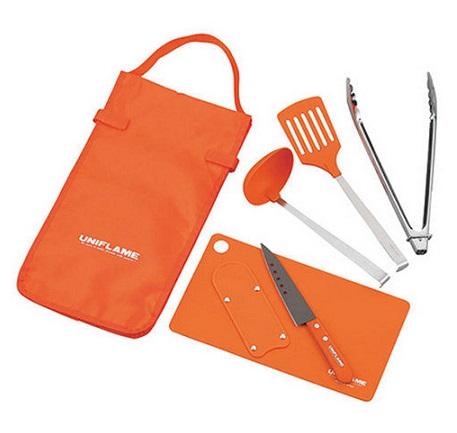 UNIFLAME 日本 | Fan Tool Set 六件式廚具組 露營 野餐 餐具 廚具 | 秀山莊(662120)