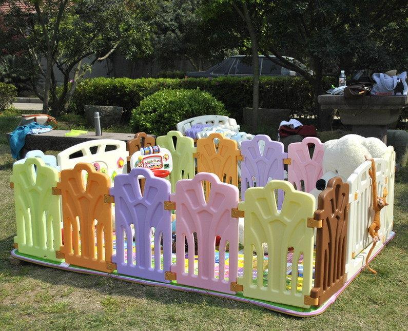 十二色童話 嬰兒圍欄 安全圍欄 便攜式遊戲圍欄 護欄 遊戲屋 12片(2大+10小)