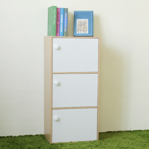 《Hopma》白橡配白三門收納櫃