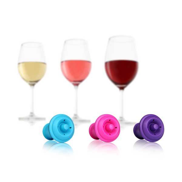 荷蘭 Vacu Vin 葡萄酒保鮮瓶塞三入組 / 酒器週邊