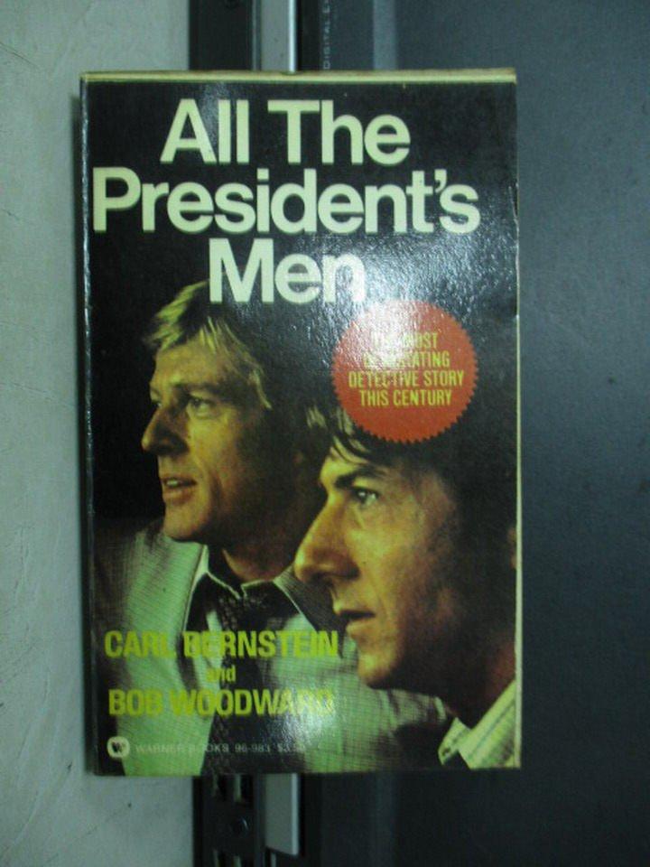 【書寶二手書T8/原文小說_KSS】All the president's men_Carl Bernstein