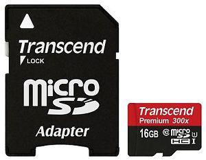 可傑 Transcend 創見 Micro SDHC 16GB Class 10 45Mb/s 300X 高速卡 記憶卡創見終生保固 手機 行車紀錄