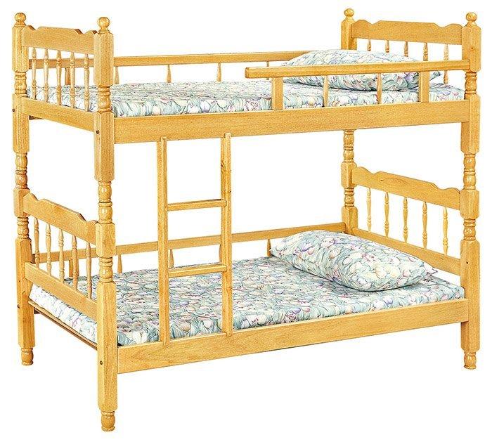 【尚品家具】HY-A196-03 白木3尺方柱雙層床(三護欄)