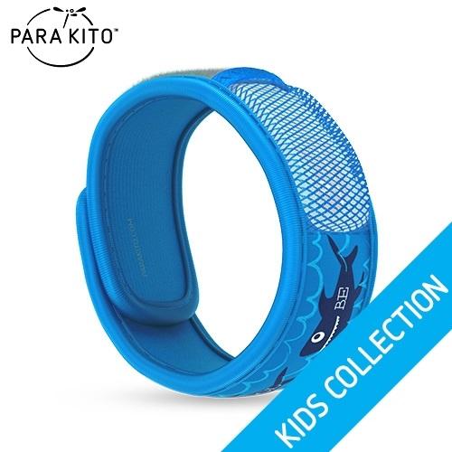 【買任3個送妖怪手錶驅蚊貼片】法國【Para''Kito】天然防蚊手環(酷炫鯊魚)