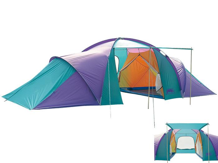 【露營趣】中和 送鋁箔墊手電筒 台製 犀牛 RHINO A-800 A級雙套房豪華野營帳篷 八人帳 8人帳篷