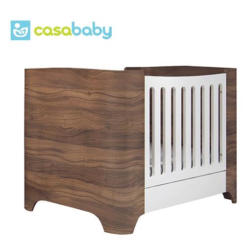 【贈乳膠床墊+泡棉床墊】希臘【Casababy】Harmony 三合一成長嬰兒床 - 深咖啡色