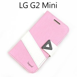 【Dapad】星光紋雙色支架皮套 [粉+白] LG D620k G2 mini
