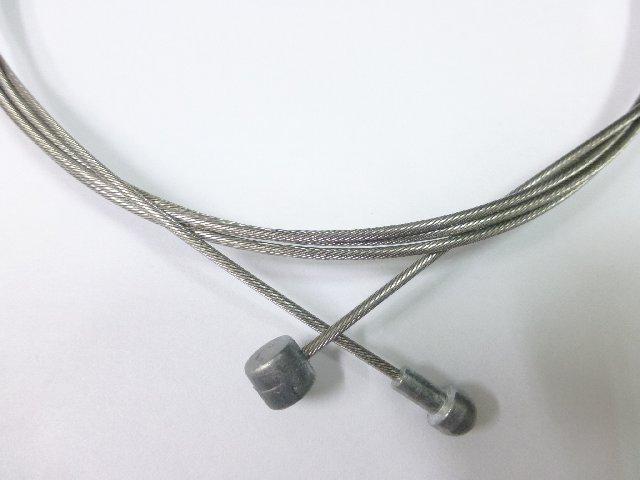 《意生》白鐵不鏽鋼雙頭煞車線 1700mm_SLICK研磨平滑款 19股登山車頭公路跑車頭自行車用