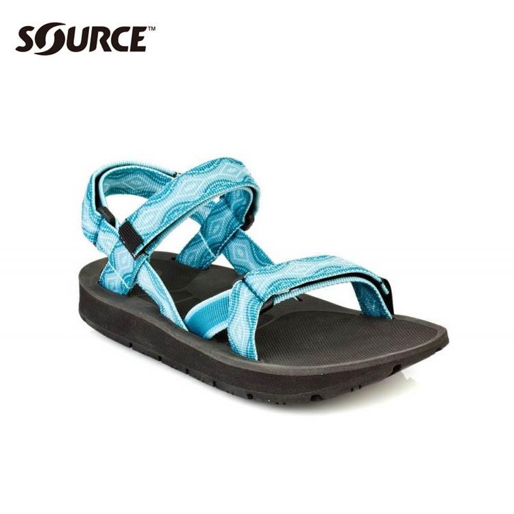 SOURCE 女越野運動涼鞋Stream101022B5【夢幻藍】 / 城市綠洲(織帶+一體成型+輕量+快乾+抑菌)