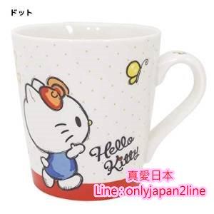 【真愛日本】16092100001馬克杯-KT鬱金香   三麗鷗 Hello Kitty 凱蒂貓   馬克杯 水杯  杯子 正品