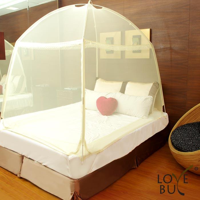 ★夏殺●SALE$690★【Love Buy】三開門帳篷式蚊帳/蒙古包(雙人床尺寸)
