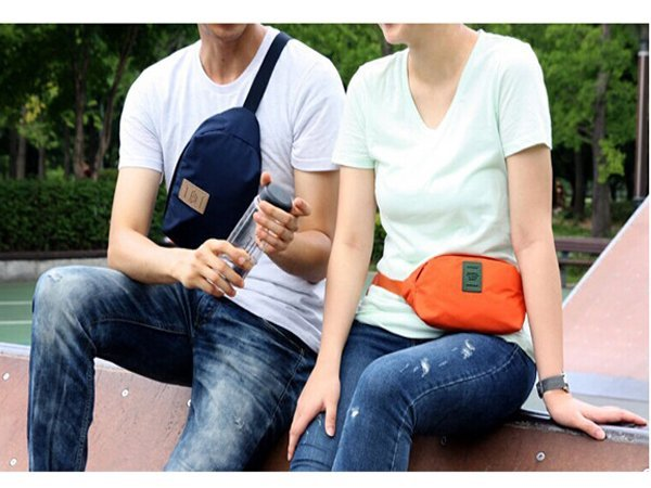 BO雜貨【SV6155】韓版 戶外運動旅行跑步包 便攜透氣腰包 背包 挎包 男女跑步防盜腰包