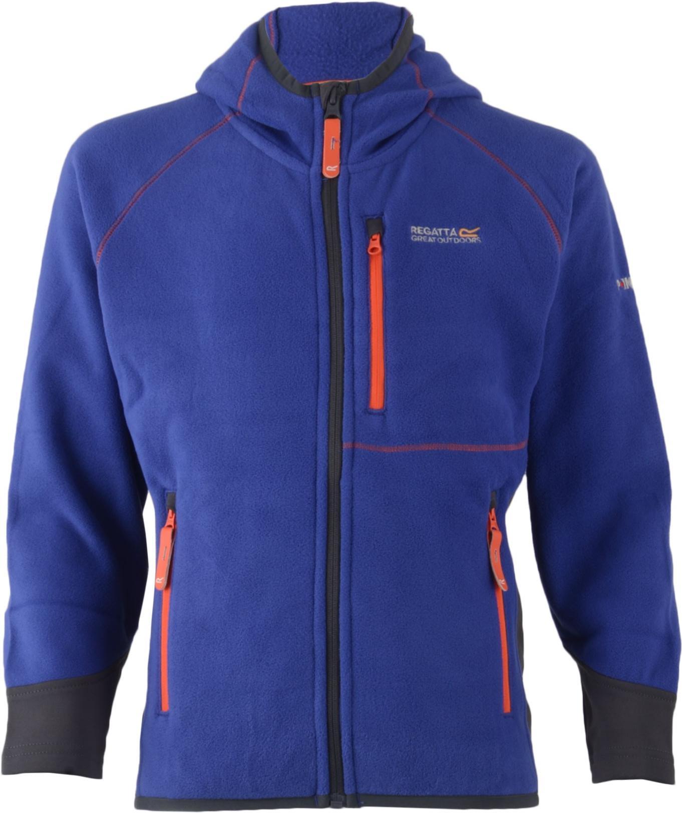 Regatta 刷毛外套/保暖刷毛衣/威飛 210彈性刷毛保暖連帽外套 Whinfell 童款 RKA164 19E 藍紫